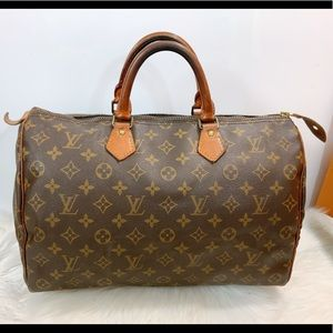 100% Authentic Louis Vuitton Speedy 35 Satchel